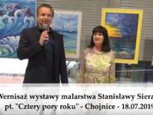 """Wernisaż Stanisławy Sierant – """"Cztery pory roku"""" – Chojnice 2019"""